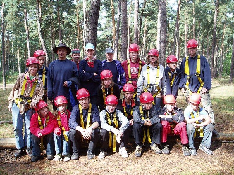 Scouts Scouting Alphen groepsfoto op kamp